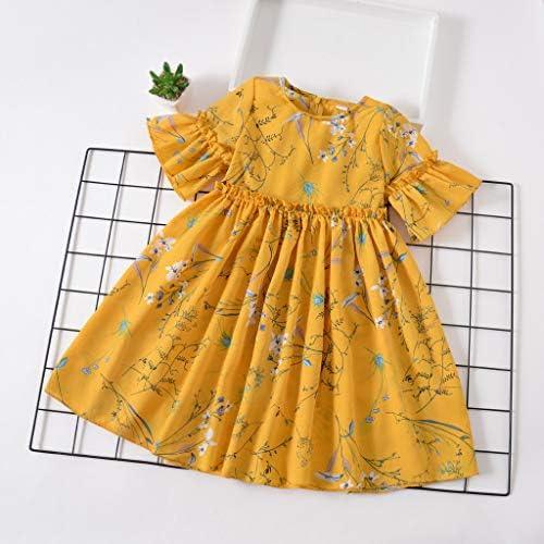 Sannysis Kleinkind Baby Blumenkleid Kinderkleidung M/ädchenkleider Prinzessin Party Kleid Cocktailkleider Knielang Baumwolle Babykleider