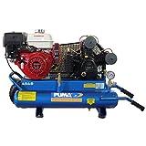 Puma Air Compressors TUE-8008HGE Commercial Twin Tank 2 Stage Wheelbarrow Style Belt Drive Series Air Compressor, 8 hp Honda GX Gas Engine, 175 Maximum psi