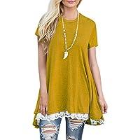 BELAMOR Women's Long & Short Sleeve A-Line Flowy Tunic Tops (US 4-22)