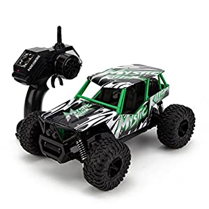 STOTOY Remote Control Car,High Speed Off Road Monster RC Truck - 1/16 Scale 4WD 2.4Ghz Radio Controlled Electric Truggy - Best Gift for Kids and Adults-Green