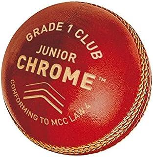 GM pour Enfant Chrome Grade 1Club Balle de Cricket, Enfant, Chrome Grade 1 Club Red Gunn & Moore 3008A101