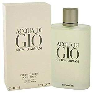 Acqua di Gio by Giorgio Armani for Men Eau de Toilette Spray, 6.7 Fl Oz