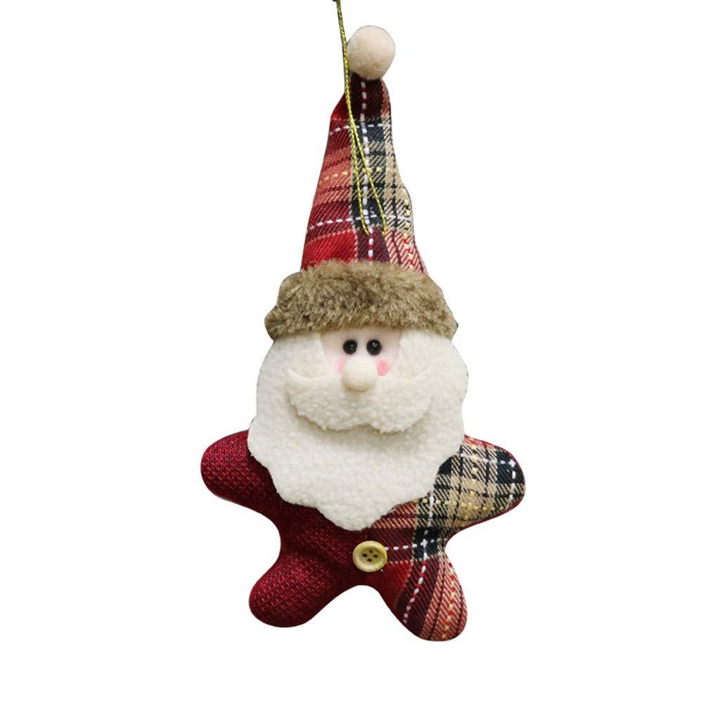 Weihnachtsschmuck Zolimx Weihnachtsdekoration Weihnachtsverzierung Santa Snowman Reindeer Toy Doll Hang Party Decoration (A)