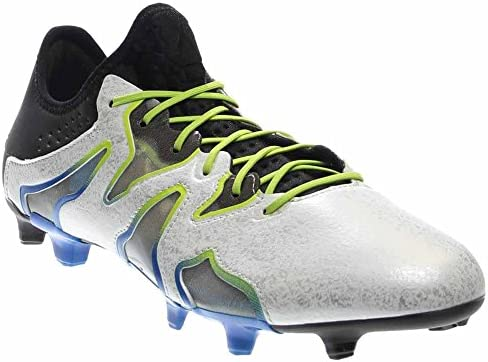 adidas Soccer X 15+ SL Firm/Artificial Ground Cleats Mens Soccer-Shoes AF4693_6.5 - White/Black/Blue