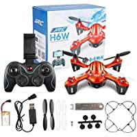 JJRC H6W 2.4G 4CH Gyro Wifi FPV Video Real-time Transmission Headless Drone with 2.0MP HD Camera RC Quadcopter - Orange