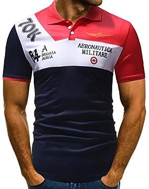 Mens Slim Fit Printed Polo Shirts Short Sleeve Floral T-Shirt Casual Shirts for Mens Clothing