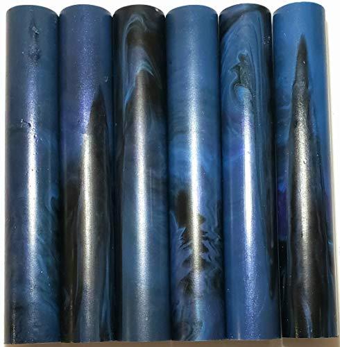 Alumilite Pen Blank 6 pack Midnight Swirl