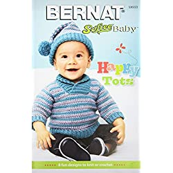 Spinrite Bernat Knitting and Crochet Patterns, Softee Baby Happy Tots