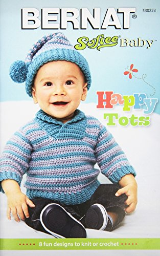 Spinrite Bernat Knitting and Crochet Patterns, Softee Baby Happy Tots by Spinrite