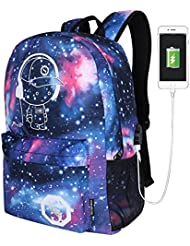 Luminous Bag Student Shoulder Casual Laptop Backpack for Teen