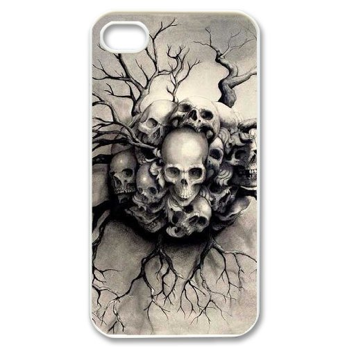 Alice iPhone 4,4s Case,Personalized Custom Fashion Skull,Unique Design Protective TPU Hard Phone Case Cover