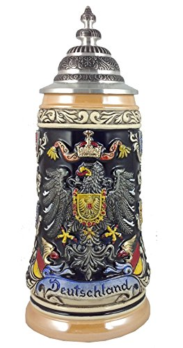 German Beer Stein German with state coat of Arms Stein 0.5 liter tankard, beer mug ZO 1939/996 (State Arms Coat Of)