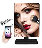 Cheap 2-BetterLife Bluetooth Enabled LED Light Vanity Makeup Mirror with Bluetooth Speaker (Black)
