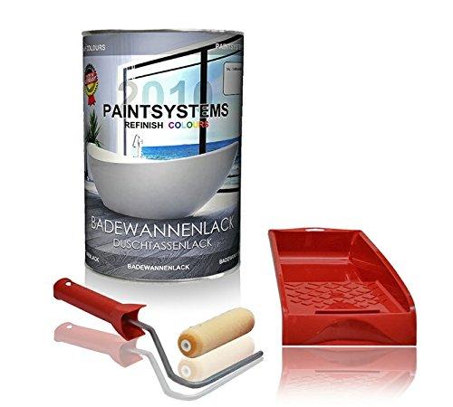 Badewannenlack-2K Set weiss Duschtassenlack fü r Kunststoff GFK Emailwannen 1, 5Kg Paintsystems GmbH