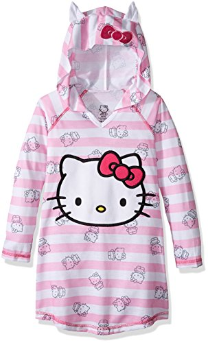 - Hello Kitty Big Girls' Hooded Dorm, Pink, Small