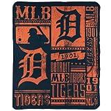 MLB Detroit Tigers Fleece Throw Blanket 50 inch by 60 inch