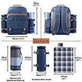 Sunflora Picnic Backpack for 2 Person Set Pack with