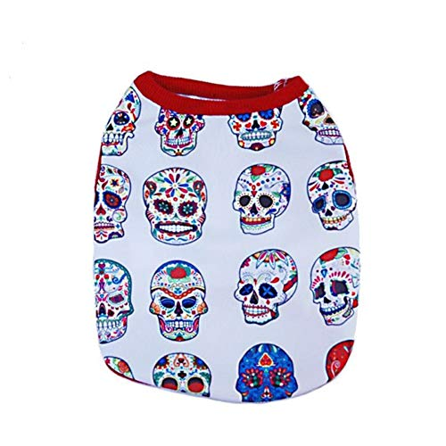 Coat Jacket outfit roditori CricTeQleap vestiti Pet inverno Puppy Facial autunno Halloween Dog per Skull Makeup Gift Vest wvTqP7w