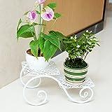 AIDELAI flower rack Vertical iron flower pot rack Patio Garden Pergolas (Color : White, Size : 381721)
