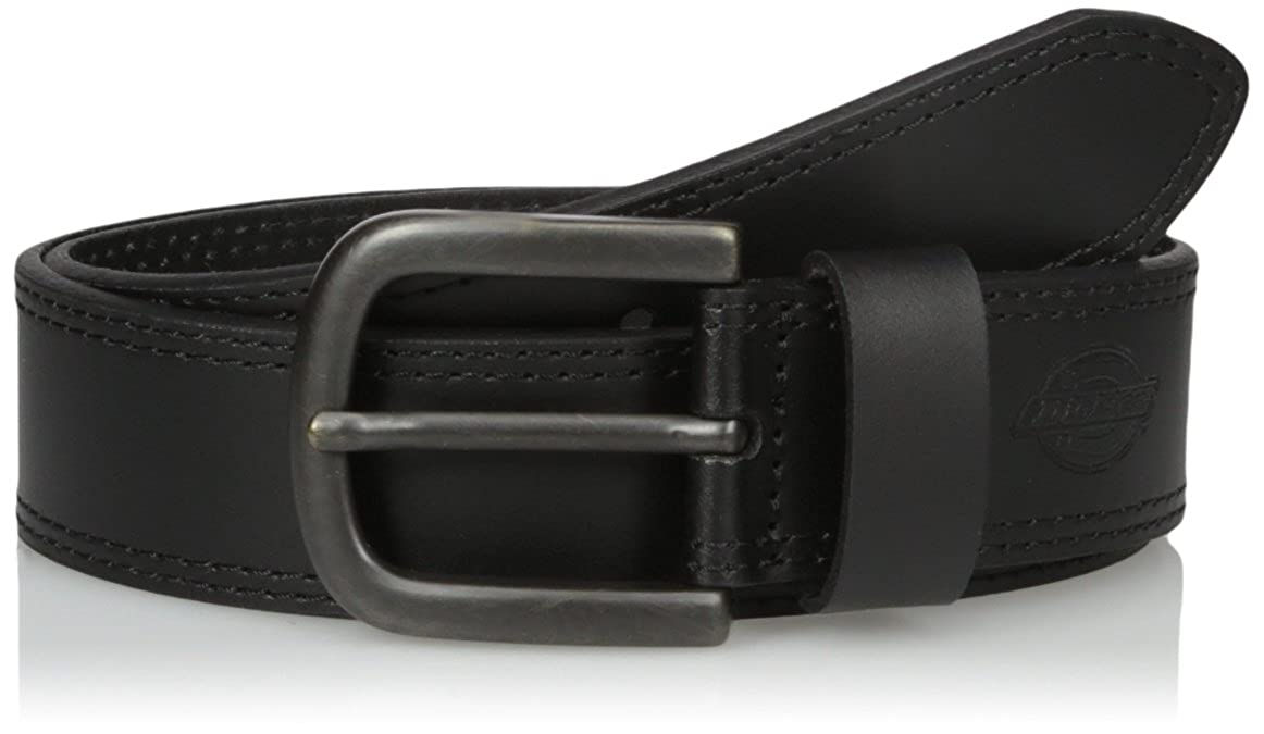 Dickies Mens Leather Belt Stitch Image 2