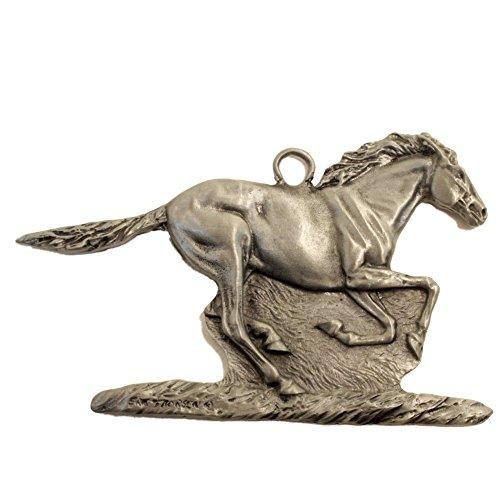 (Gorgeous Running Horse Mustang Christmas Ornament Medallion Hanging Charm Wild Thorsen Montana)