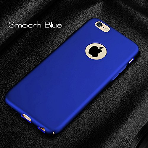 Anccer Funda iPhone 6s Plus Case [Serie Colorida] [Ultra Delgado] [Anti-Drop] ultrafin Premium Carcasa iPhone 6 Plus 5,5 pulgadas (Plata liso) Azul liso