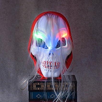 Inovey Horror Calavera Fantasma Led Luz Máscara Zombie Pañuelo ...