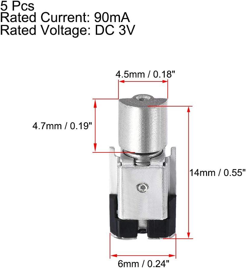 sourcing map Micro Mini Vibration Moteurs DC 3V 90mA 14x6x4mm T/él/éphone Cellulaire /Électrique Moteur Vibrant 10Pcs