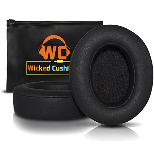 Upgraded Beats Replacement Ear Pads By Wicked Cushions - Compatible with Studio 2.0 Wired / Wireless AND Studio 3 Over Ear Headphones by Dr. Dre ONLY ( DOES NOT FIT SOLO ) (Black)
