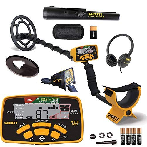 Garrett ACE 300 Metal Detector with Waterproof Search Coil and Pro-Pointer II