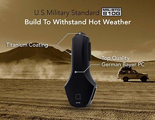 Nonda ZUS practical automotive Locator USB automotive Charger 24W 48A 2 Ports Black automotive Chargers