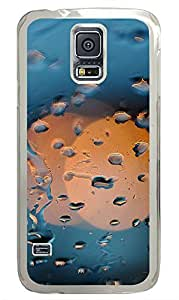 Samsung Galaxy S5 Nature Rain Circles PC Custom Samsung Galaxy S5 Case Cover Transparent