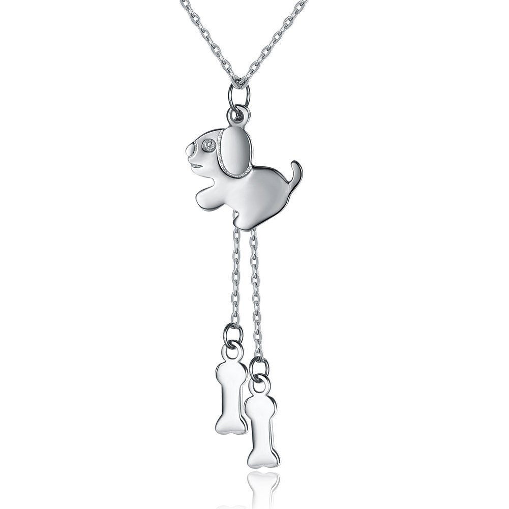 myazs8580 Fashion Sterling Silver Necklace with Dog Necklace.