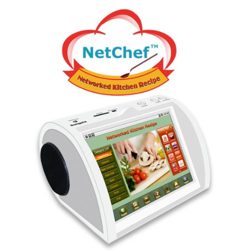NetChef (PF809) Networked Kitchen Recipe With 500 Preloaded Worldwide Recipes With Audio, Video photo, and eBook formats by NetChef