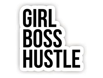 Girl Boss Hustle Inspirational Quote Stickers 2 5 Vinyl Decal Laptop Macbook Decor Window Vinyl Decal Sticker