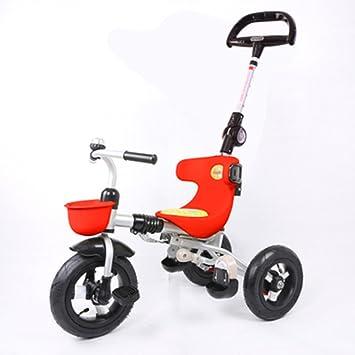 Triciclos Trike Kids 3 Wheels niños Bicicleta 1-4 años Carrito para bebés Trolley Bicicleta para niños (Color : Rojo) : Amazon.es: Juguetes y juegos