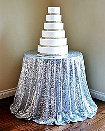 120u0026quot; Silver Sequin Table Cloth Wholesale Sequin Linens 120u0026quot; Round  Sparkly Sequin Tablecloths Sparkly