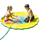 D SERIES Sprinkle & Splash Play Mat - Two Valves Quick Draining - Perfect Outdoor Water Toy Kids - 67 inches Large Enough 3 to 4 Kids - Water Play Mat Kids