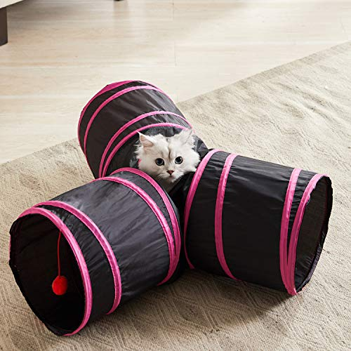 WESTERN HOME WH Cat Tunnels for Indoor cat, Pet Cat Tunnel Tube Cat Toys Collapsible, Cat Play Tent Interactive Toy Maze…