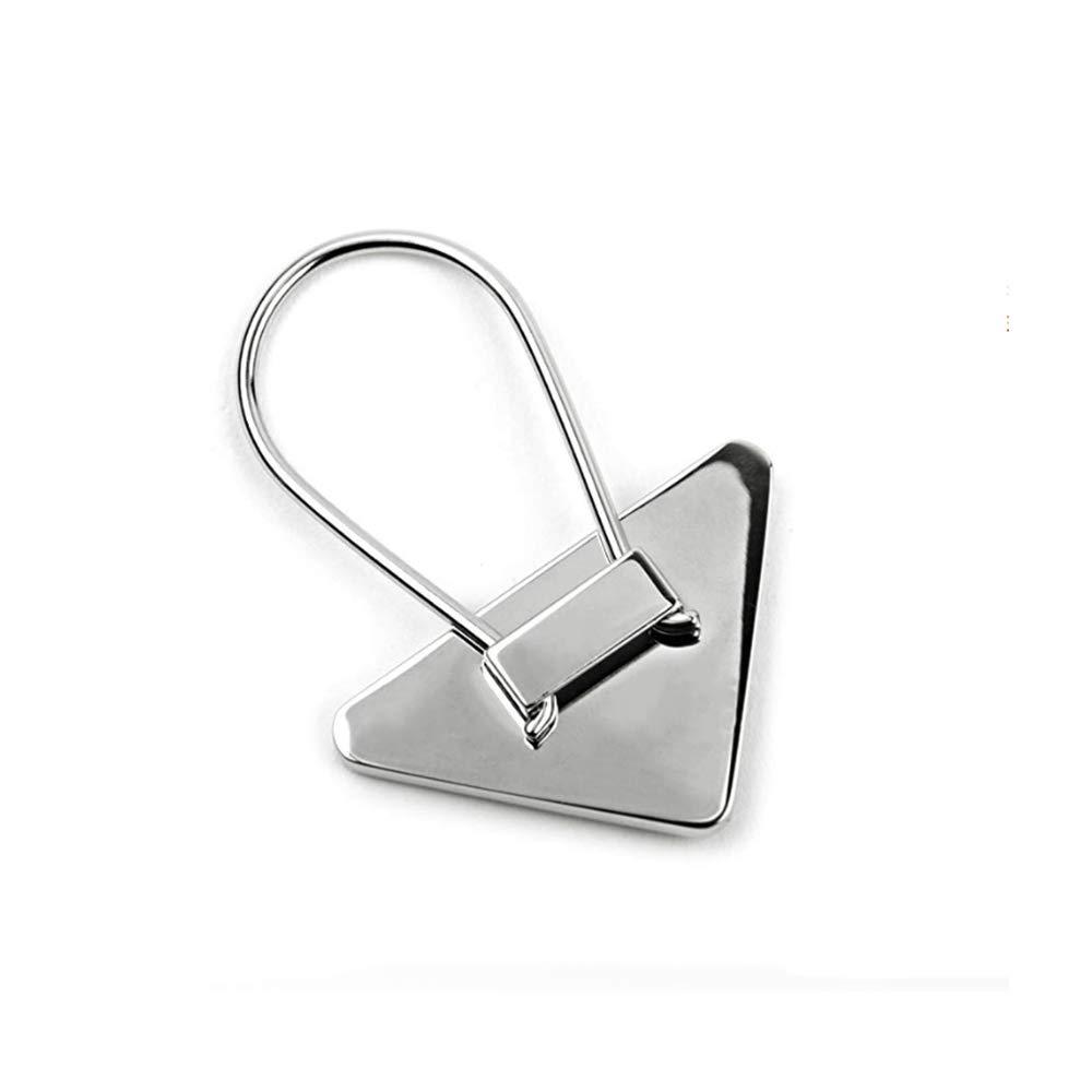Prada Triangle Logo Lacquer Plaque Keyring, Black/silver by Prada (Image #3)