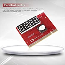 Baynne Laptop Motherboard Mini PCI PCI-E LPC POST Troubleshooting Diagnosis Card(Color red)