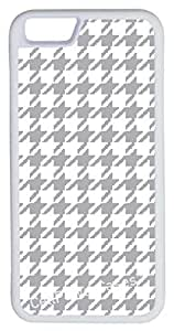 iPhone 6 Case, CellPowerCasesTM Gray Houndstooth -\xa0iPhone 6 Plus (5.5) White Case [iPhone 6 (5.5) V1 White]