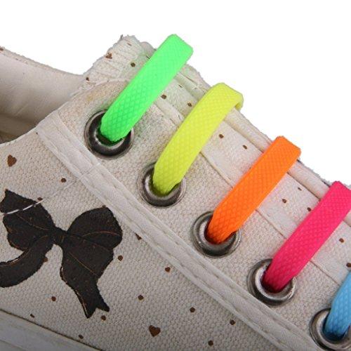 Arpoador Cordones elásticos de silicona para zapatillas de niños (1 juego), Multi-Colored: Amazon.es: Deportes y aire libre