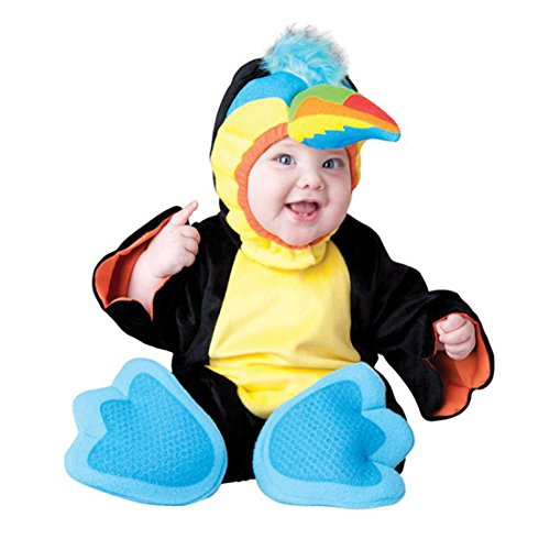 JTENGYAO Infant Boys Girls Animal Parrot Costume Halloween Christmas Pajamas Cosplay Costume(13-18 Months)