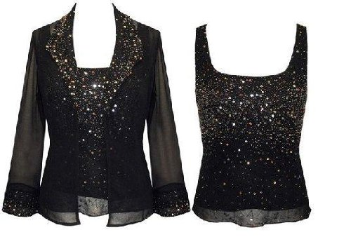 The Evening Store 2PC Cami and Jacket Hand Beaded (Small) by The Evening Store (Image #2)
