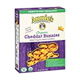 Annies Homegrown Organic Cheddar Bunnies Baked Snack Crackers - Case of 12 - 11 oz.