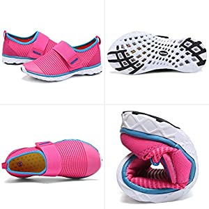 GLOBTOUCH Boy and Girls Athletic Water Shoes Quick-Dry Slip on Aqua Sock for Beach Pool Swim Surf Walking(Toddler/Little…