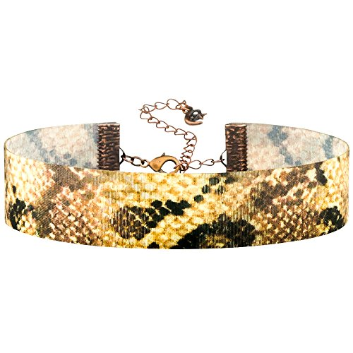 - Twilight's Fancy 3D Patterned Color-Change Lenticular Hologram Choker (Rattle Snake Animal Print, Small)