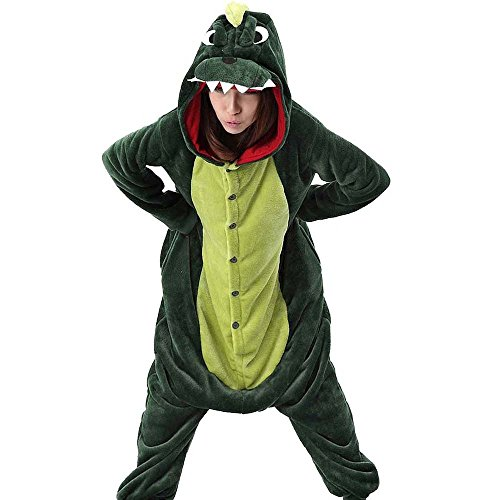 XaoRo Green Indumenti Dinosaur notte da Donna T1qTZYrIw