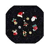 9 Designs Christmas Tree Sock Snowflake Nail Art